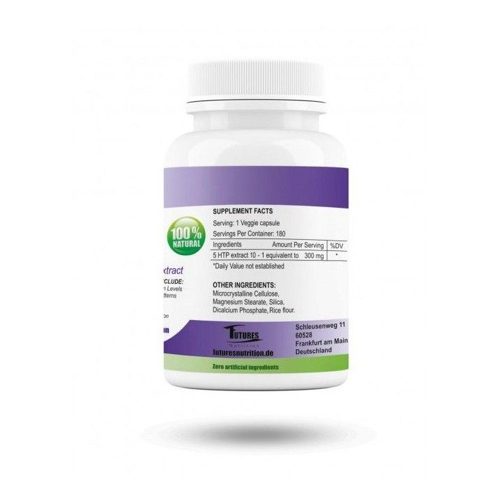5 HTP 300mg. 180 capsules.Griffonia seed extract